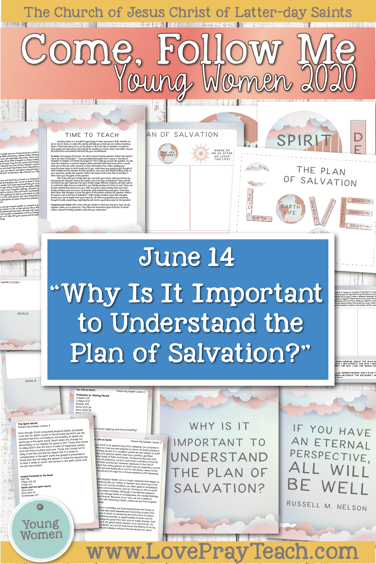 "Young Women Doctrinal Topics 2020 June 14: ""Why Is It Important to Understand the Plan of Salvation?"" Alma 8–12 Printable Lesson Packet"