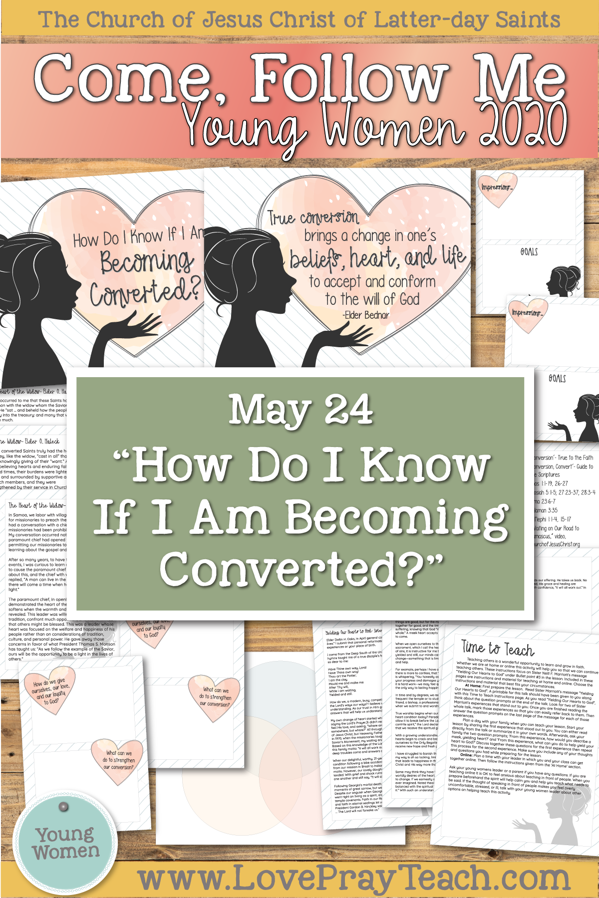 "Come, Follow Me for Young Women 2020 May 24 ""How Do I Know If I'm Becoming Converted?"" Mosiah 25-28"