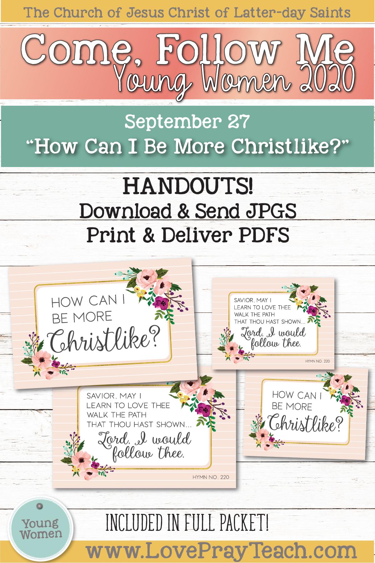 Young Women Doctrinal Topics 2020: September 27