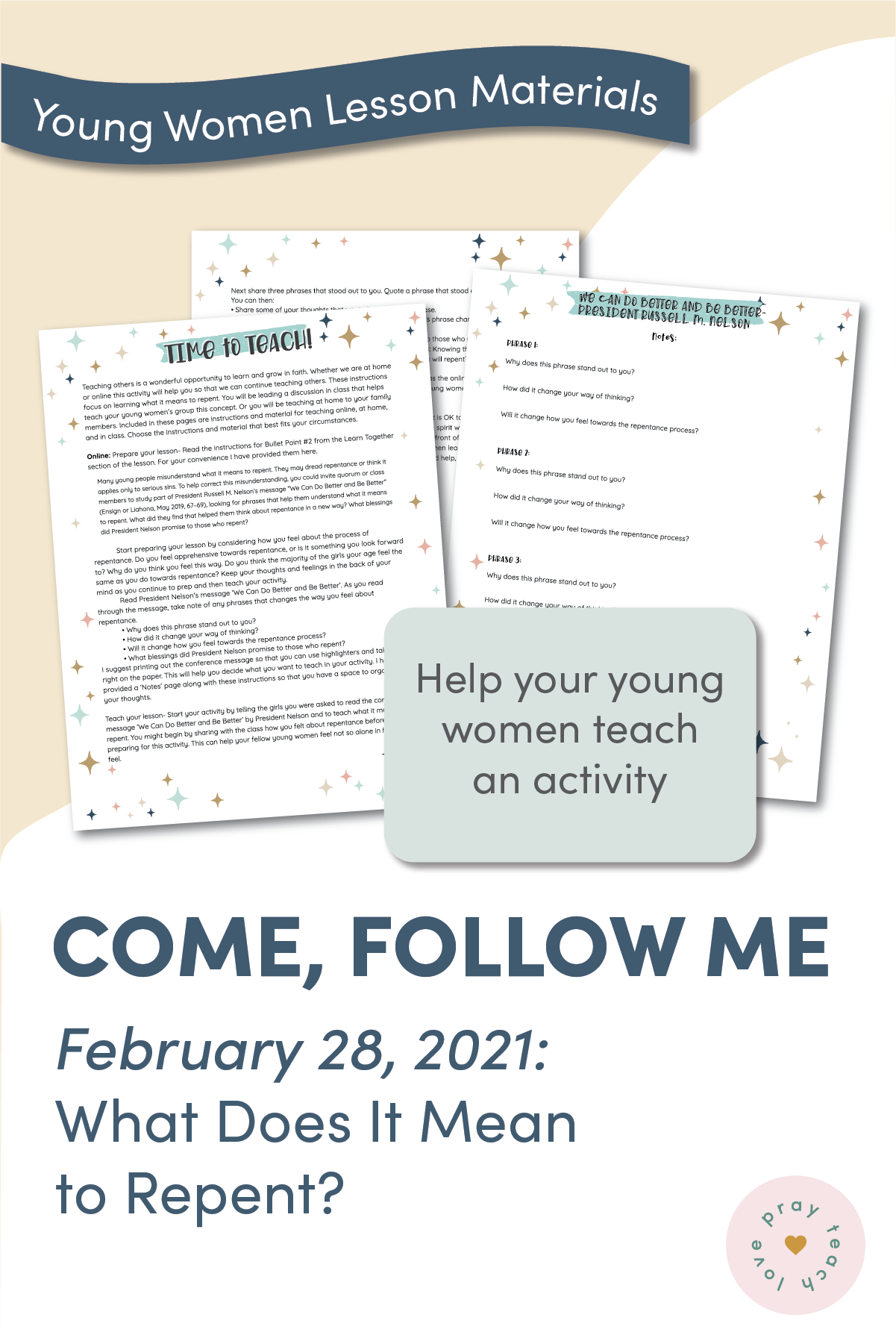 Young Women Doctrinal Topic February 28:
