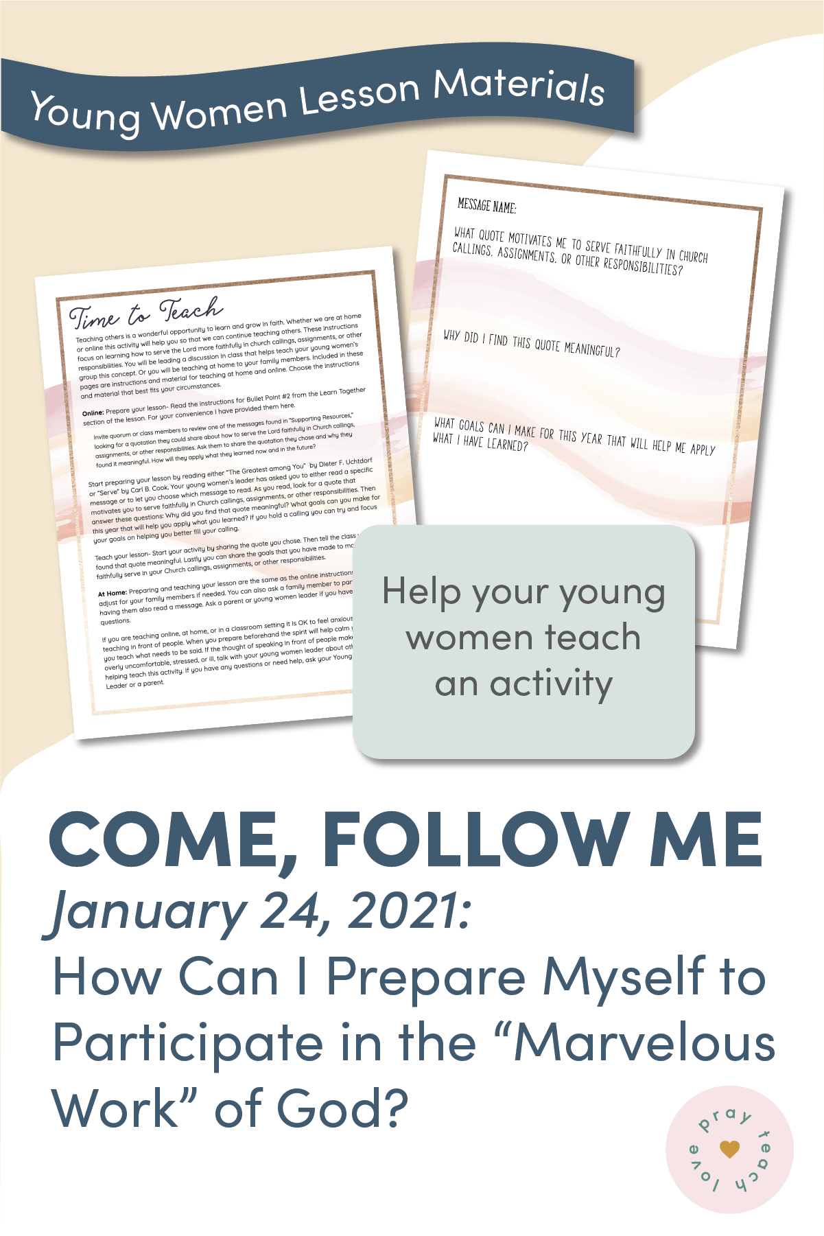 Young Women Doctrinal Topic January 24: