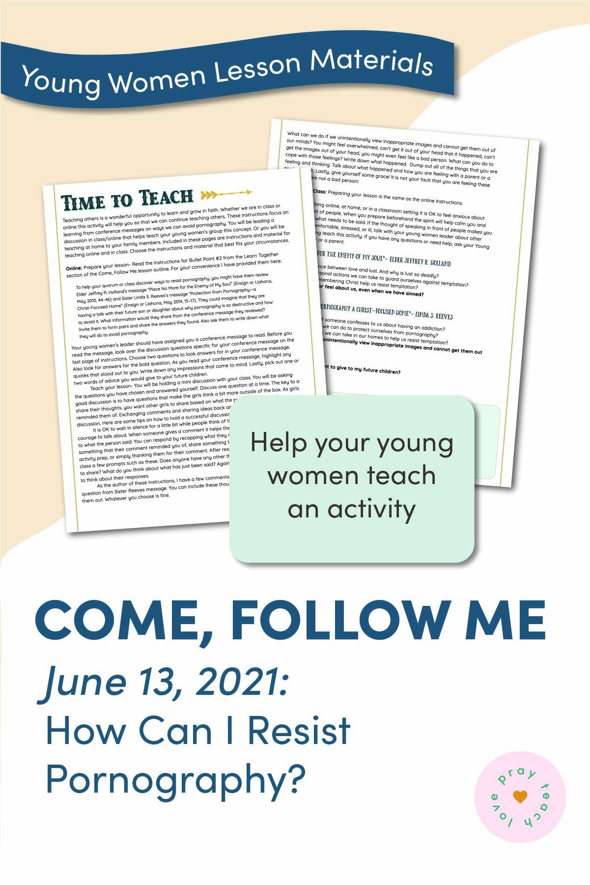 Young Women Doctrinal Topic June 13: